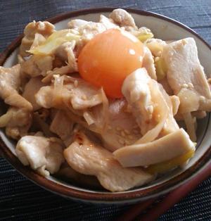 【伝説のすた丼、再現レシピ2】鶏ムネ肉のあっさりバージョン