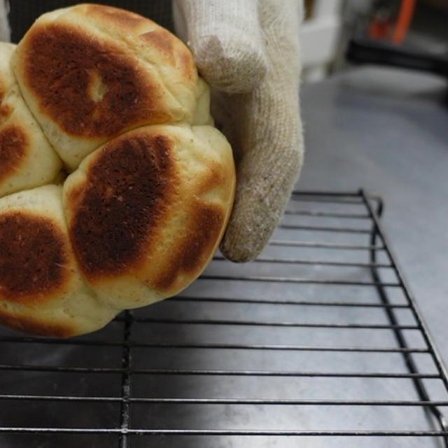 スキレットとカセットコンロで焼く全粒粉のパン