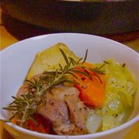 旨炒めペーストで☆鶏もも肉と野菜の蒸し煮