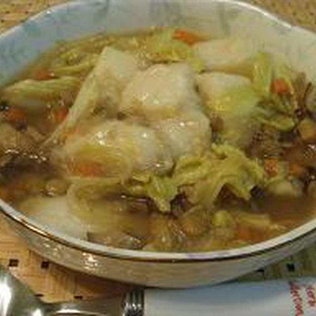 もっちりお餅入り★甘い野菜スープ♪