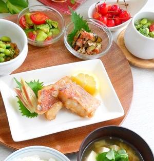 和朝食 * 赤魚の竜田焼き