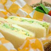 ブロッコリーと 茹でたまごの ゆず胡椒風味サンドイッチ ☆