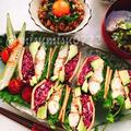 低糖質!カレー高野豆腐の鯖サンド