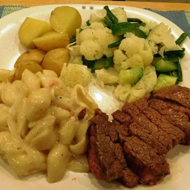 ワンプレート ~ ステーキとマカロニチーズ