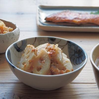 レンコンの梅味噌和えとごはん日記帖