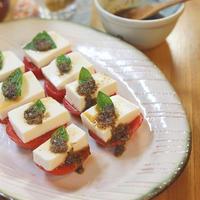 <ヤマキだし部>豆腐で和風カプレーゼ~出汁パックリメイクだれ