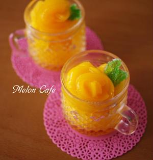 黄桃の贅沢ソルベ☆材料ふたつ、缶詰で簡単ひんやりシャーベット♪