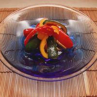 だしまろ酢で彩り野菜の焼き浸し~ポロンとテラスでスパークリングタイム