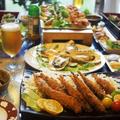 ■お盆のおもてなし料理【①鮎フライ②殻付き牡蠣の酒蒸し】品数の都合で2品ずつのご紹介です♪