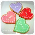 バレンタイン♡ハートのアイシングクッキーNO.2
