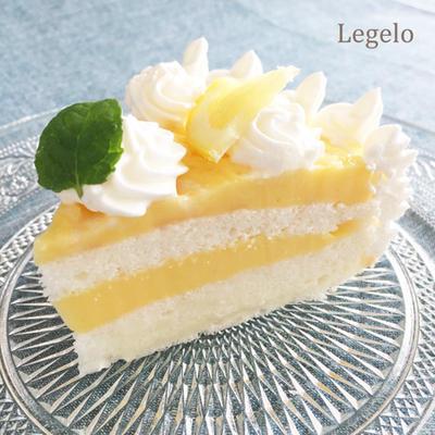 白いスポンジのレモンカスタードケーキ☆夏のひんやりお菓子