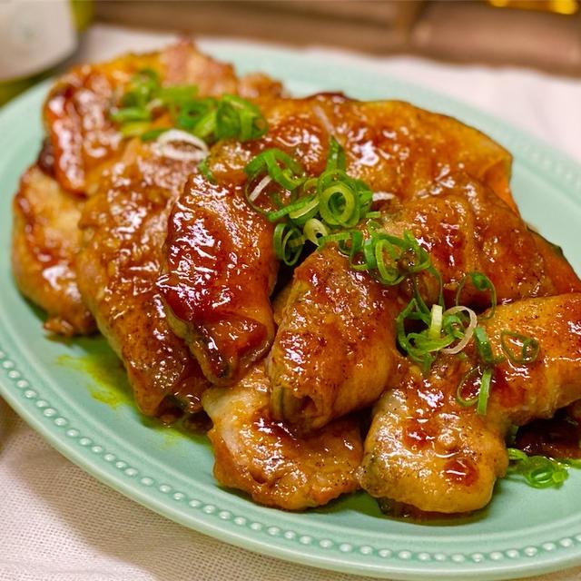 【レシピ】肉巻きかぼちゃのカレーにんにく醤油