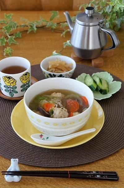春雨スープの朝ごはん
