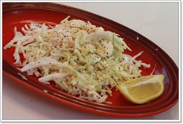 キャベツのサラダの明太レモンソース