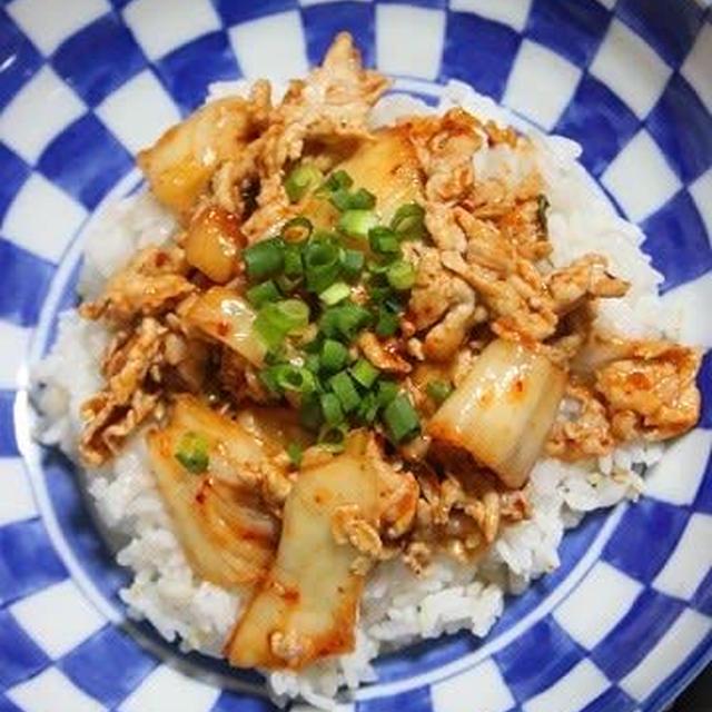 5月21日  豚キムチ丼