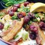 ■にんべん魔法の料理の素<ポークステーキ>キットで【豚バラソテーとクランベリー乗せオニサラ丼】