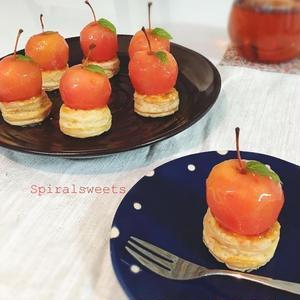 小さくて可愛い!丸ごと「#姫りんご」のスイーツフォト