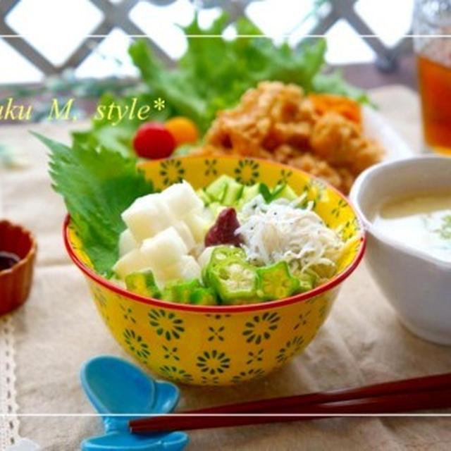 カフェ丼セット♪長芋のネバトロ・シャキシャキ使い&人の雰囲気と見た目?