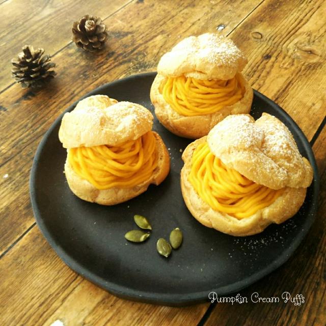 かぼちゃのモンブランシュークリーム