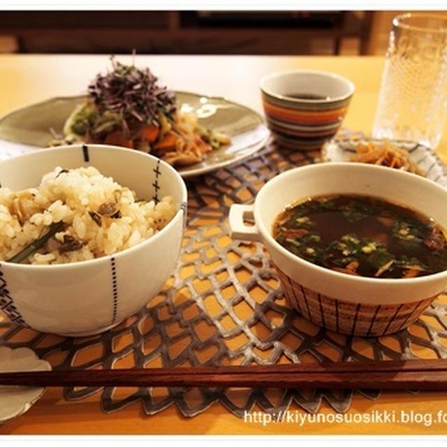 無印のキットを使って和食ごはん&無印良品週間スタート。
