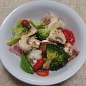 コールドポークと野菜のサラダ