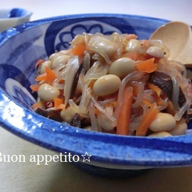 大豆と桜えびの煮物