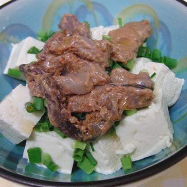 柚子胡椒入りの塩辛で♪ ごま油でからめた塩辛豆腐