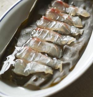 (洋風)鯛の昆布締め