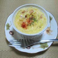 レンジで簡単!春キャベツとベーコンのココットオムレツ(レシピ改良版)