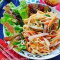 切干大根のハムサラダ(動画レシピ)/Dried strips of daikon radish and Ham.