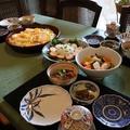 レシピ付き献立 筍とふきのばら寿司・ わさび巻き一口かつ・和風ピクルス・新じゃがいもの肉じゃが・そら豆の甘辛煮・茶わん蒸し