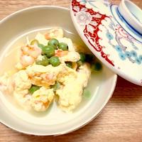 えんどう豆と海老の白だしさっと煮