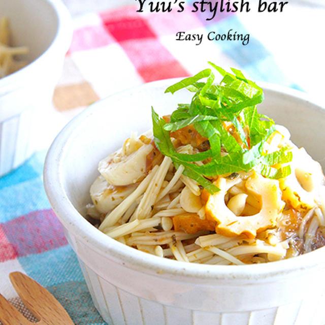 地味なのに、これ、ヤバイくらいに美味しい〜っ!エノキとちくわのおかか梅《簡単★節約★副菜》