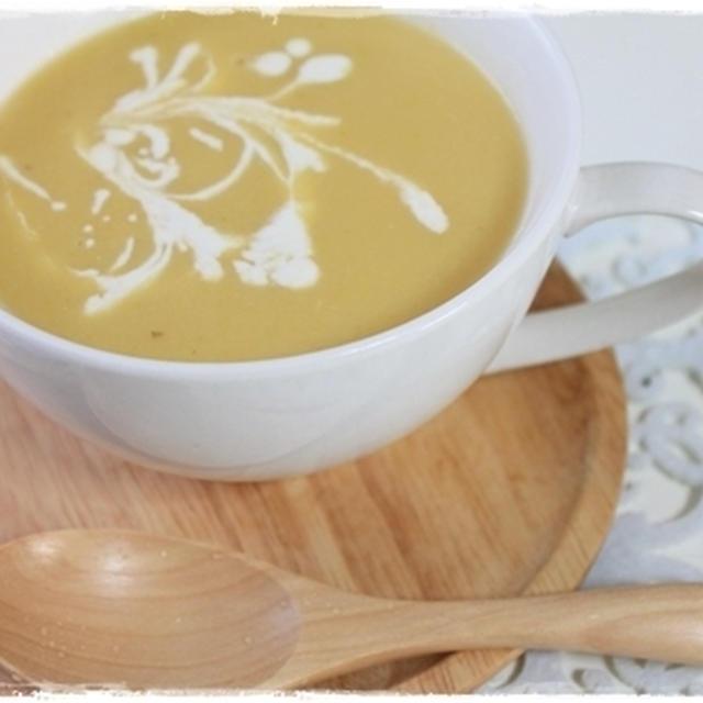 金曜日の朝は、15種類の野菜と果物が入ったスープで元気チャージしたよ。