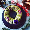 クリスマスリースのちぎりパン