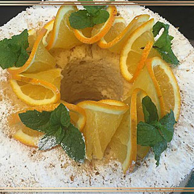 シナモン香るシフォンケーキ・美味しい!!エビ入りクリームスープ