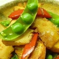 筍とカラフル野菜の和風ホットサラダ♪
