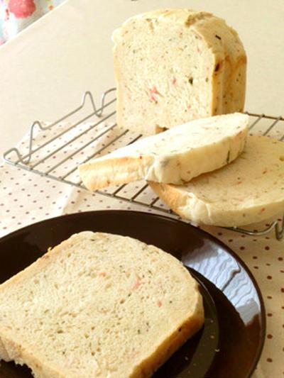大葉とベーコンのパン (HBレシピ)