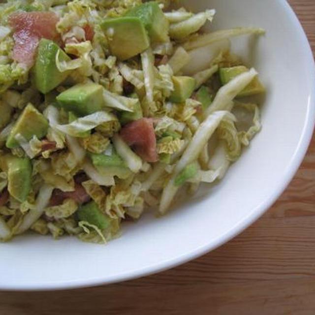 アボカドと生ハムの白菜サラダ