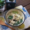 6月キャンプと小松菜とエリンギの餃子味スープとお弁当
