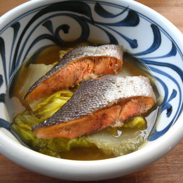 鮭と白菜のバター醤油煮