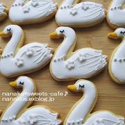 白鳥のアイシングクッキー