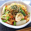 【お野菜たっぷり高タンパク】鶏胸肉とピーマンのゼンブヌードル塩こうじ焼きそば|レシピ・作り方