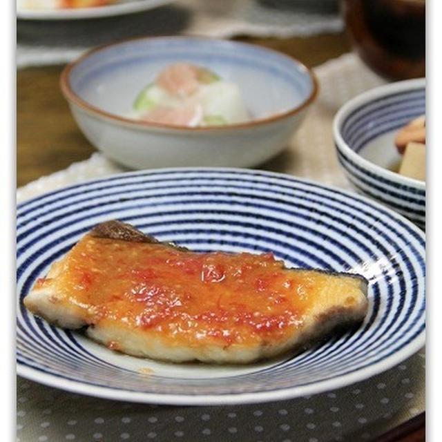 ぶりの梅みそ焼き&里芋といかの煮物*和食