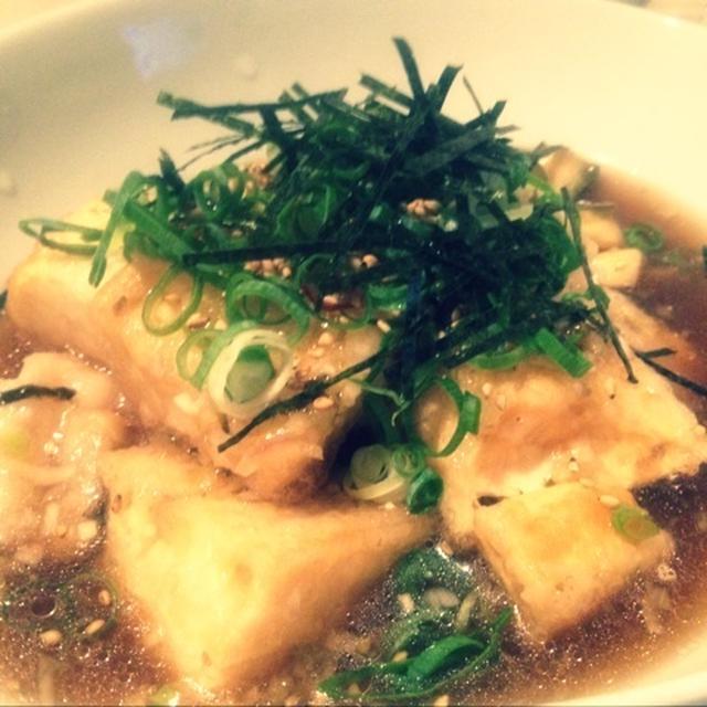 【レシピ】中華風揚げだし豆腐&もち