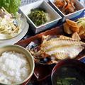 ■THE・朝ご飯【鯵の干物焼き/北京ダック入りパスタサラダ/他】