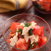 トマトと蒸し鶏の香味中華サラダ【#作り置き #簡単 #時短 #節約 #コスパ最強 #副菜】