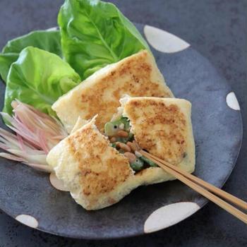 節約簡単料理 納豆とオクラのサクサク焼き