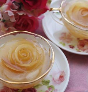 薔薇と林檎のコンポートジュレ