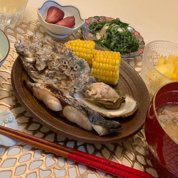 鰯のつみれ汁✨岩牡蠣✨でお家ごはん✨